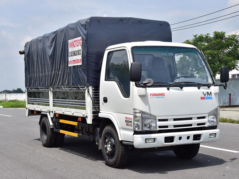 Xe Tải Vĩnh Phát NK470 1.49 tấn thùng dài 4.4m