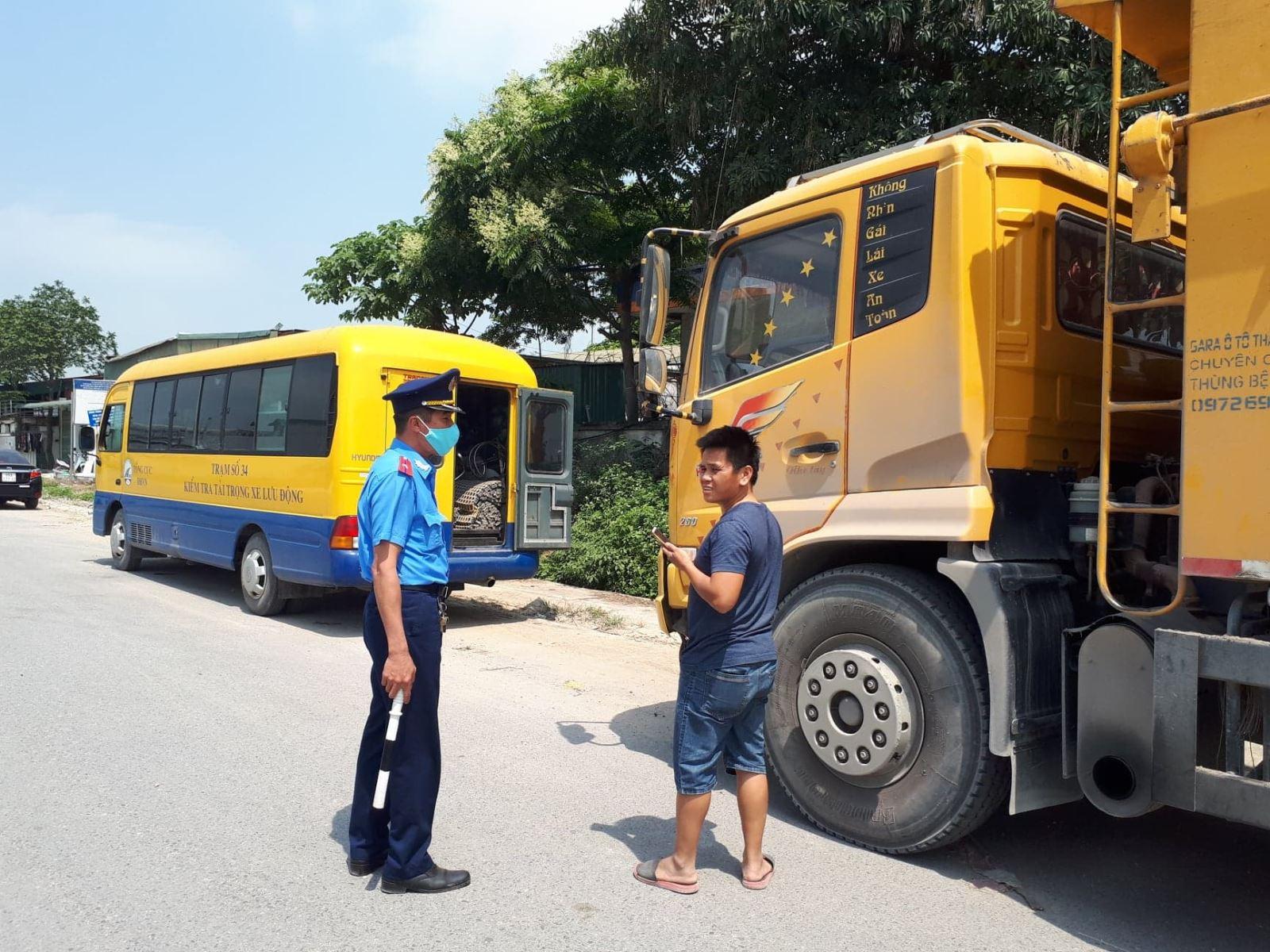 Xe lưu thông không được vượt quá trọng lượng cho phép