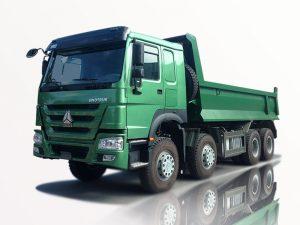 Xe tải ben 4 chân Howo Sinotruk 8×4 thùng vuông