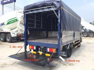 Chiều rộng và chiều dài xếp hàng hóa trên xe tải