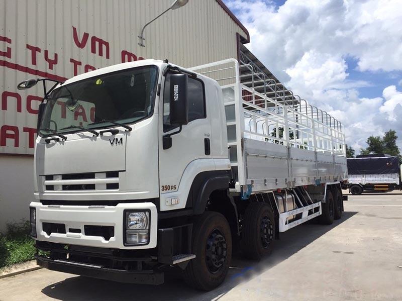 Động cơ xe tải 4 chân Isuzu mạnh mẽ, tiết kiệm nhiên liệu