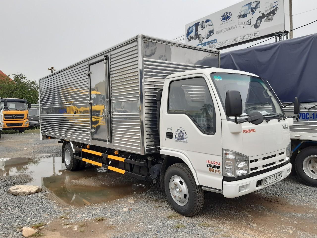 Ngoại hình xe tải isuzu 1t9 thùng 6m2