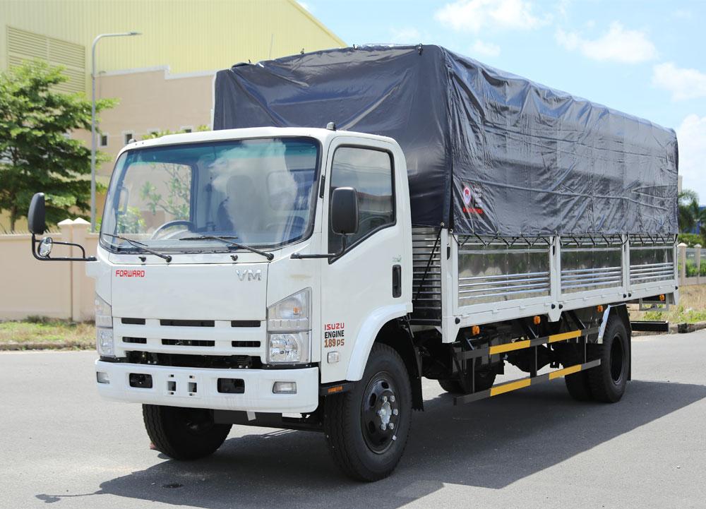 Xe tải Isuzu VM 8t2 thùng mui bạt