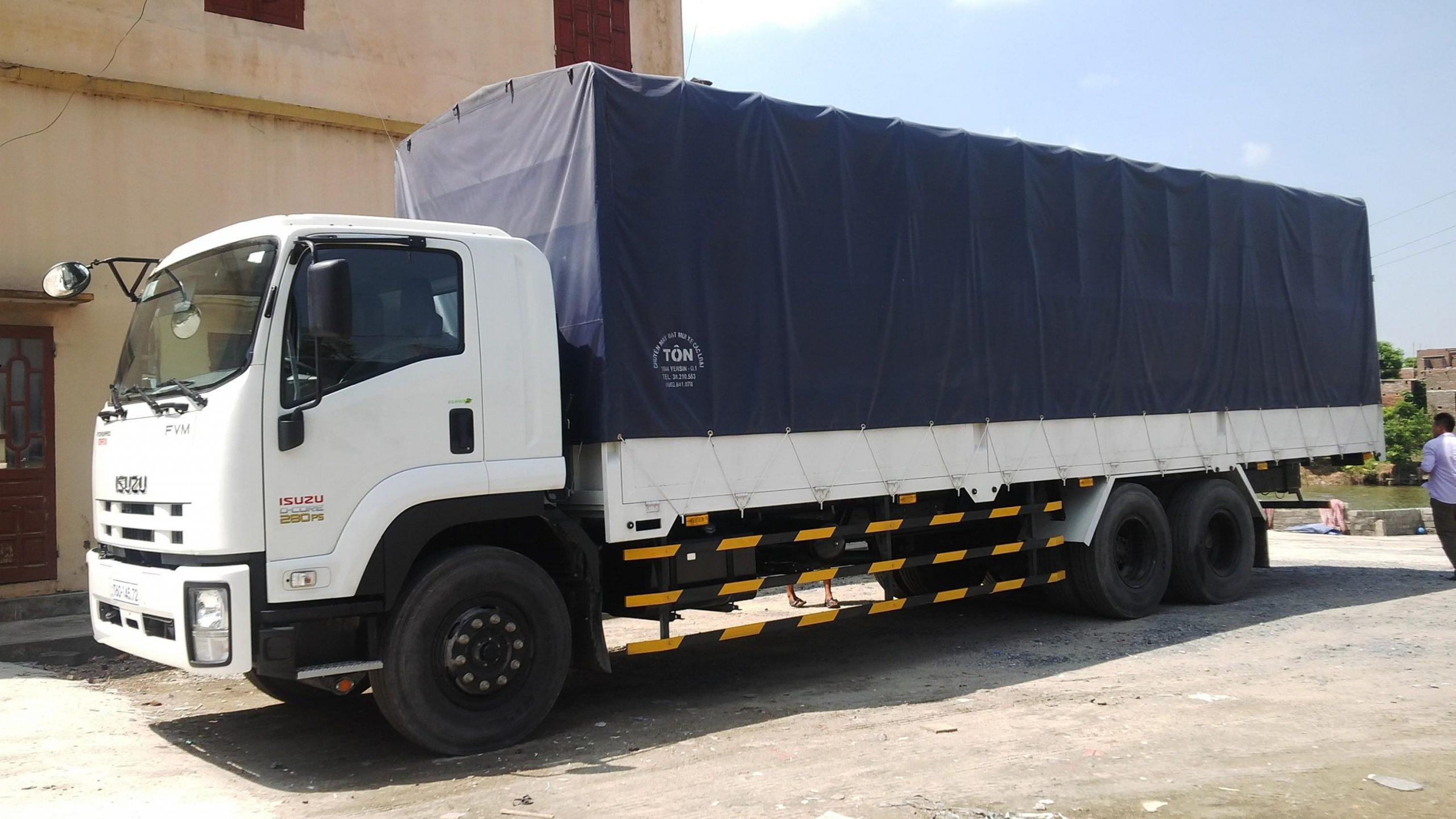 Isuzu siêu dài mức giá không quá chênh lệch với các dòng xe tải hạng nặng khác